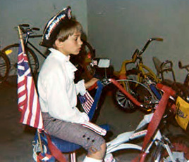 Me setting off to the parade on July 4, 1976 (thanks mom!)