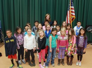 Incline Elementary Third Grade with Music Teacher Rita Whitaker-Haun