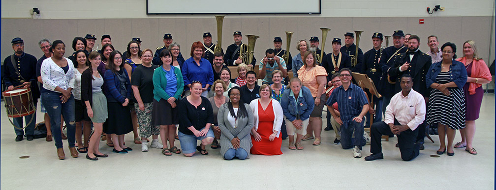 NEH Participants with members of the Federal City Brass Band