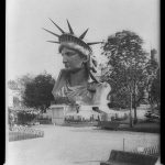 Statue of Liberty head in Paris