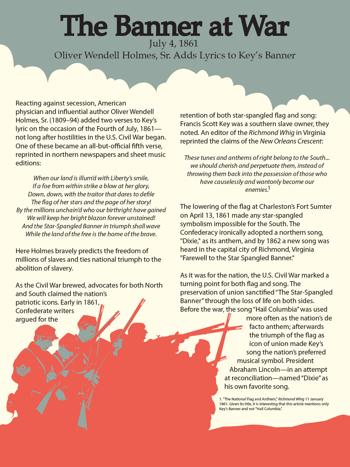 History Series Forward Back Banner – Star Spangled Banner Worksheet